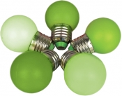 Лампа для Белт-лайта Е27, 1 Вт, d=45 мм, ЗЕЛЕНАЯ