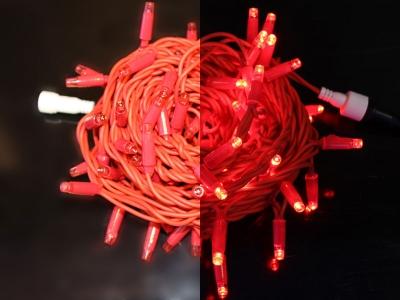10 м, 24В, КРАСНЫЙ, красная резина