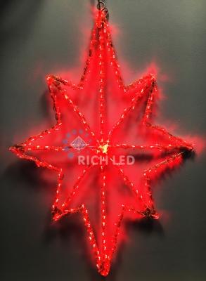 Звезда светодиодная 60 см, 220V, красная